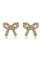 Lovely Butterfly Knot Diamond Earrings
