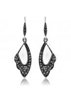 Fashion Retro Crystal Wings Earrings
