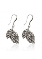 Lovely Blade Shape 925 Sterling Silver Earrings