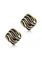 Women's Fashionable Leopard Squareness Earrings