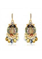 Women's Fashionable Petal Rain Crystal Earrings
