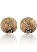 Women's Retro Lovely Hat Crystal Earrings