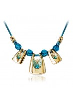 Handworked Bohemia Short Collar Bone Necklace