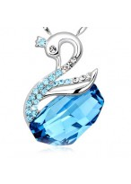 925 Valentine'S Day Crystal Sterling Silver Necklace