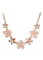 Women'S Fashionable Sakura Shape Opal Necklace