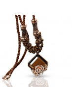 Retro Palace Long Square Crystal Necklace