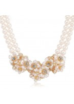 Fashionable Handworked Pearl Necklace For Valentine'S Day