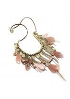 Retro Amorous Feelings Tassel Feathered Necklace