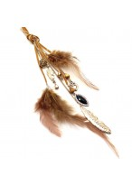 Popular Retro Long Feathered Tassel Necklace