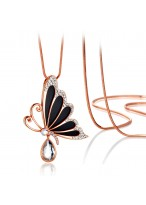 Fashionable All-Match Butterfly Crystal Decoration Necklace