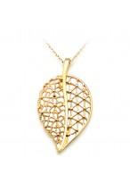 Fashionable Leaves Shape Rose Gold Short Collar Bone Necklace