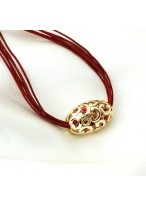 Lucky Bead Short Collar Bone Necklace For Women