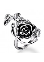 Retro Hollow Out Flower Index Finger Ring For Women