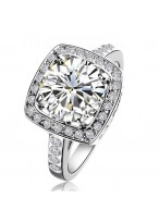 Women's Micro 3 Carat Zircon Diamond Inlaid Ring
