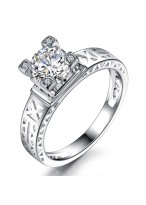 New Eiffel TowerCarat Zircon Diamond Ring For Women