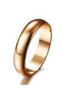 Classical Rose Gold Plated Glaze Wedding Ring