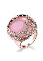The Love Of Goddess Powder Crystal Ross Quartz Ring