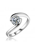 Fashionable Zircon Carat Swiss Diamond Ring For Lovers