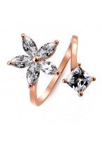 Simple And Sweet Waltz Artifical Crystal Ring For Women