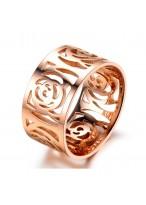 Camellia Shape Titanium Steel Ring For The Perfect Women