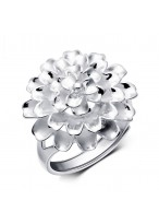 925 Sterling Silver Elegant Blossoming Flowers Opening Ring For Women