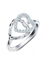 925 Sterling Silver Love Peach Heart Ring For Women