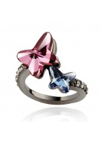 Retro Swarovski Ghost Butterfly Ring For Fashion Girls