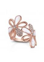 Lovely Flower Shape Austrian Rhinestone  Ring For Women