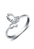 925 Sterling Silver Fashionable Colorful butterfly Ring For Women