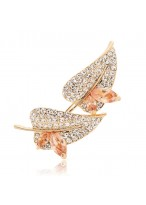 Lustrous Multi Color Whirlpool Alloy With Clear Zircon Fashion Lady's Brooch Pins