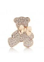 2015 Popular Boutique Genuine Diamond Bow Bear Brooch Pins