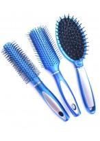 Magic Detangling Haarbürste Antistatisch Ventbürste Kopf Kamm Set in Farbe Blau