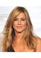Jennifer Aniston Locken Remy Echthaar Vollspitzen Perücke