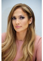Jennifer Lopez Wellen Synthetische Vollspitzen Perücke