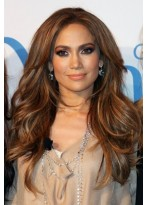 Jennifer Lopez Wellen Spitzenfront Synthetische Perücke