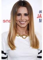 Cheryl Cole Lange Spitzenfront Blonde Gerade Remy Echthaar Perücke