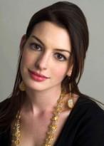Anne Hathaway Schwarze Vollspitzen Lange Gerade Echthaar Perücke