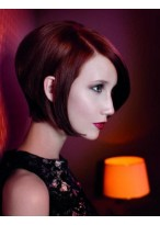 Kurz Rot Haar Lace Front Kurz Perücke