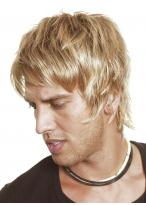 Kappenlose Blonde Kurze Gerade Synthetische Perücke
