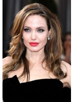Angelina Jolie Spitzenfront Lange Wellen Synthetische Perücke