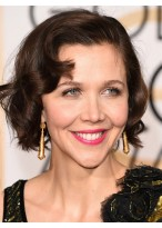 Maggie Gyllenhaal Curled Out Bob Perücke