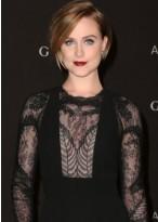 Evan Rachel Wood Seitenscheitel Kurze Fashion Full Lace Perücke