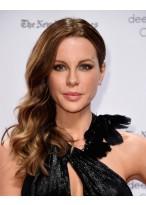 Kate Beckinsale Lange Frisur Siten Swept Lace Front Wellige Perücke
