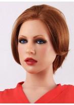 Schöne Rotbraun Haarschnitte Gerade Kurze Perücken