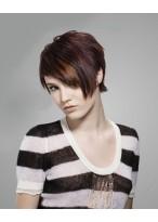 Kappenlose Kurze Synthetisches Haar Gerade Perücke