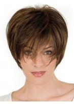 Weiblich Kurze Spitzenfront Remy Haar Perücke