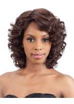African American Mittellange Locken Haar Perücke