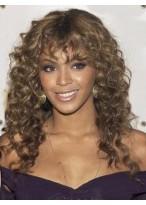 European Stil Lange Locken Braune African American Spitze Perücke für Frauen