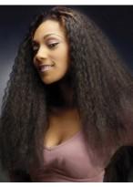 Qualität Lange Gerade ohne Pony African American Spitze Perücke für Frauen 22 Inch