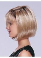 Braun Wellig Synthetisches Haar Kurz Kappenlose Perücke